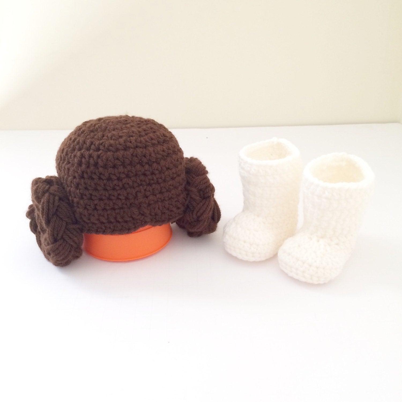 Crochet Pattern Princess Leia Hat : Crochet Star Wars Princess leia hat and shoe / star wars