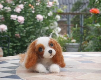 READY TO SHIP/ Needle Felted / Cavalier King Charles Spaniel /Blenheim