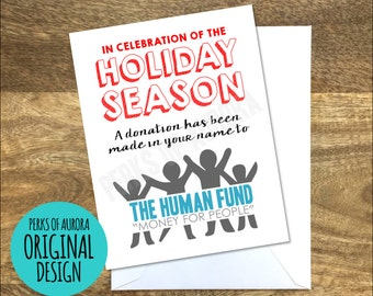 """Christmas Card, Seinfeld inspired """"Human Fund"""""""