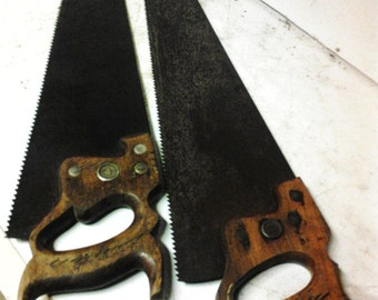 Pair of hand carpenter saws