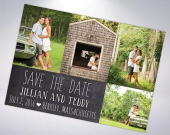 Chalkboard Save The Dates; Postcard Optional