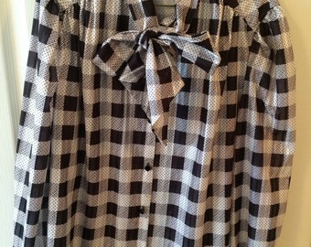 Vintage womens secretary blouse