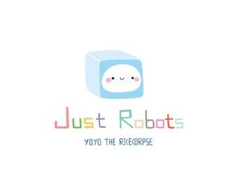 Illustration book 'Just robots'  Vol.1