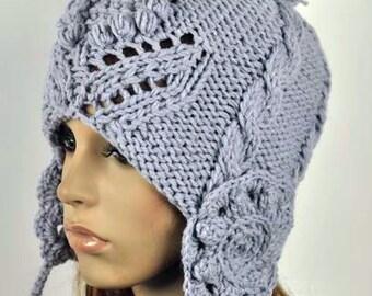 knit hat, Pompom hat