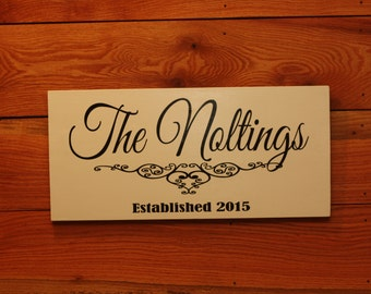 Last Name and Est date Wedding sign