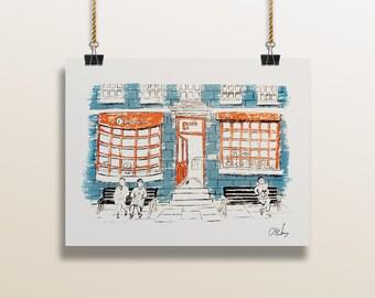 5 x 7 ScreenPrint of Bath Shopfronts 1/50
