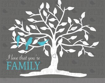 Family Tree Design - .svg/.eps/.dxf/.ai for Silhouette Studio, Cricut, or other cutting software