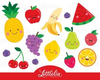 Fruit clipart - Cute fruit clipart - 15064
