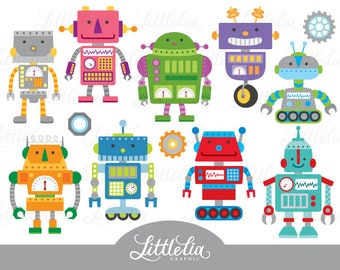 Cute robot clipart - Robots clipart - 15066