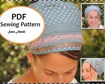 Sinar Tichel PATTERN How To Sew Your  Apron Tichel Pattern Hair Snood Head Covering PATTERN Jewish Headcovering Scarf Bandana Apron