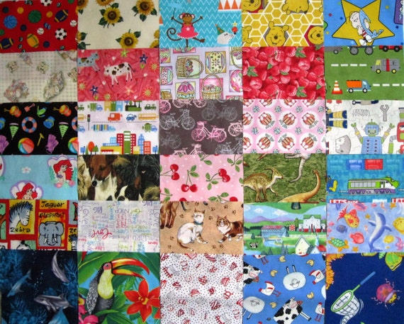 30 i spy 6 fabric quilt squares childrens novelty for Childrens quilt fabric