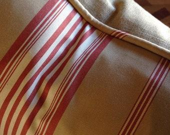 hand stenciled linen pillow