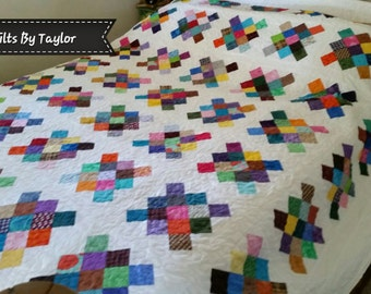 Rainbow Patchwork Quilt, Made To Order, Queen Quilt, King Quilt, Handmade Quilt, Rainbow Quilt, Quality Quilt, Pick Size