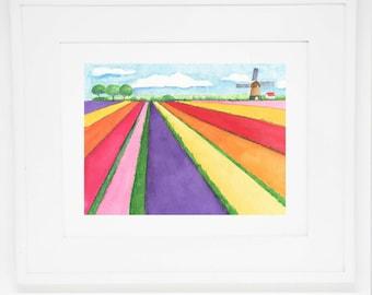The Tulip Farm art print -- 11x14