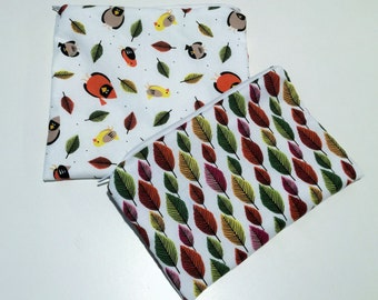 Reusable, washable zippered sandwich and snack bag set