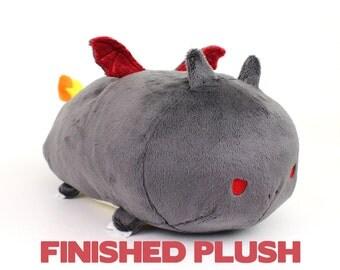 "Shiny Charizard Roll Pokemon plush ~ 13"" plushie handmade stuffed animal"