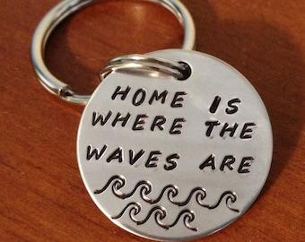 Beach keychain, coastal  keyring, beach keychain, ocean keyring, beach theme gift