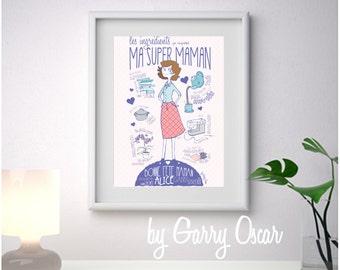 Mothers day frame Super MOM!