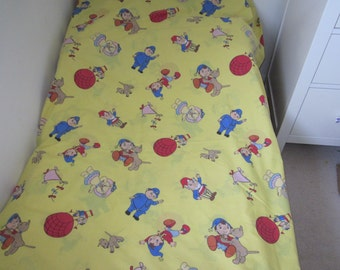 Noddy Big Ears And PC Plod, Single Twin Duvet Cover, Double Sided, 90's Children's TV Bedding Project Fabric