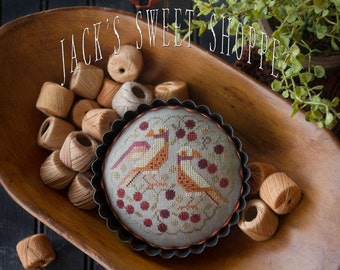 Pattern: Jacks Sweet Shoppe - The Black Cherry Tart Cross Stitch by Plum Street Samplers