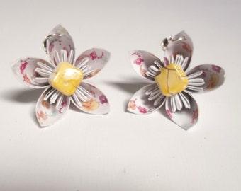 Kusudama Paper Flowers Earrings