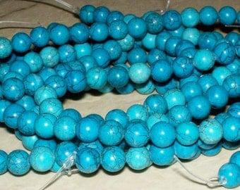 6MM Imitation Turquoise w/Matrix