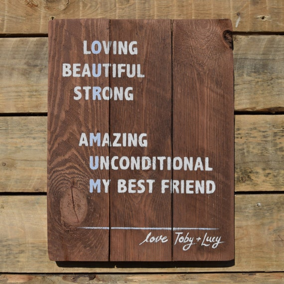 """reclaimed wood wall art - """"our mum"""" mothers day sign"""