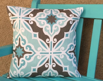 Blue Pillow Cover - Pillow Cover 0029