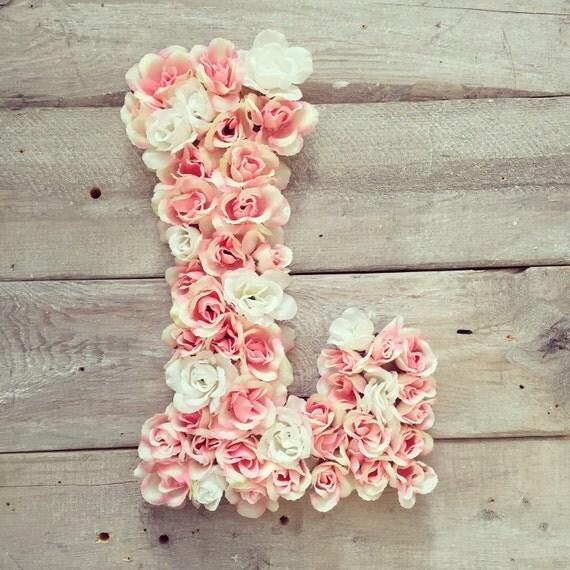 Shop Floral Monograms At Littlebrownnest Etsy Com: Items Similar To Large Floral Monogram Letter On Etsy