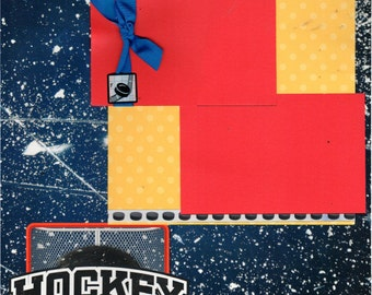 Hockey 2 Page Scrapbooking Layout Kit