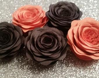 Paper Roses - Black & Orange