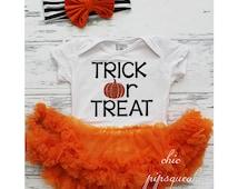 Baby Halloween Bodysuit, BabyHalloween Outfit, Halloween Pumpkin Outfit, Baby Halloween, Pumpkin Bodysuit, Halloween Tutu, First Halloween,