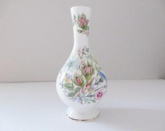 Aynsley vintage 1960's vase, Wild Tudor, English garden, Floral vase, Flower vase, Mother's day gift