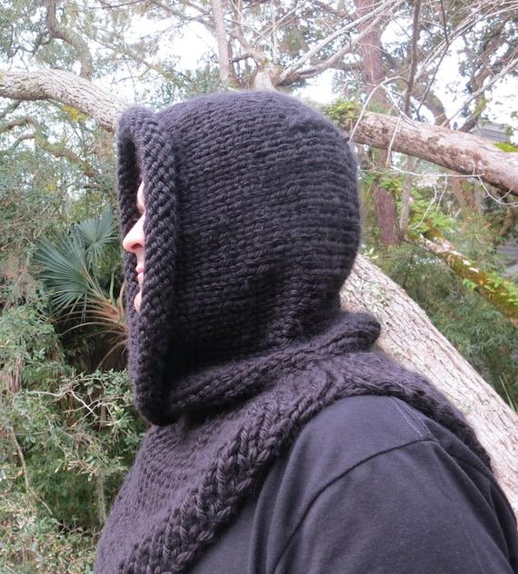 Knittin Pattern, Hat Knitting Pattern, Mens Hooded Cowl ...