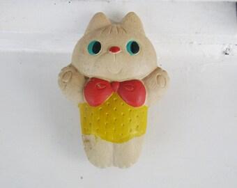 Vintage Rubber Toy - Cat - Soviet Vintage
