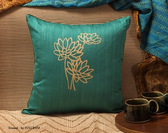 Teal Blue Cushion Cover