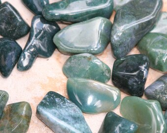 Moss Agate, Four (4) Peice Set - Blessed