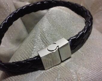 leather bracelet cuff wristband Leather bracelet