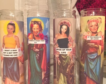 GIRL POWER SET ((5 candles))