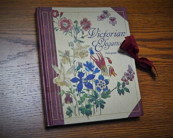 "7 1/4"" x 8 3/4"" Victorian Elegance Photograph Album Perennial Flowers Hardcover Book"