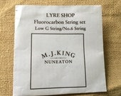 6 string lyre strings Anglo Saxon set ( x2)   fluorocarbon