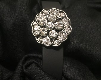 Rhinestone flower fitbit Flex Bling Bracelet Cover ** FREE SHIPPING within the U.S.**