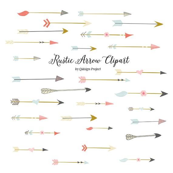 Rustic arrow clipart for scrapbooking wedding invitation