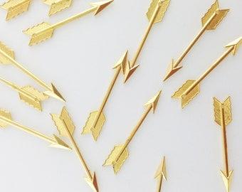 Gold Plated Arrow Charm // Combo Bracket 3 {CG043}