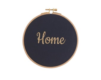 Home Wall frame - Navy and gold Glitter - Home - Decoration