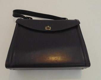 Vintage Chocolate Brown Leather Rolfs Purse Handbag Brown Purses Women's Purses Leather Handbag