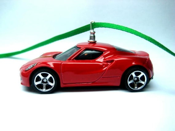 alfa romeo 4c competizione sports car christmas tree ornament. Black Bedroom Furniture Sets. Home Design Ideas