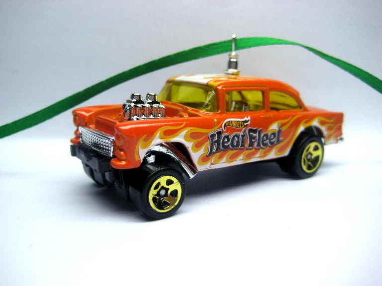 1955 55 Chevy Gasser Hot Rod Car Christmas Tree Ornament