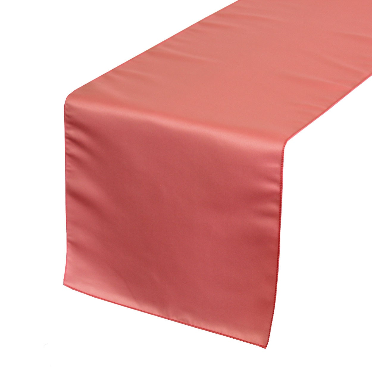 Yourchaircovers coral lamour satin table runner wedding for Table runner