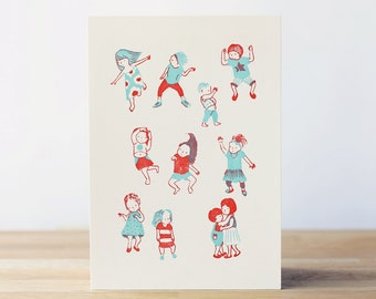 The Nonchlants - 'The Dancers' 5x7 Letterpress Print
